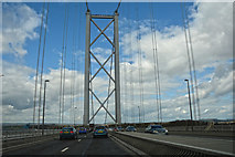 NT1279 : North Queensferry : The Forth Road Bridge, A90 by Lewis Clarke