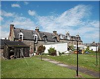 NJ9505 : Footdee cottages... by Bill Harrison