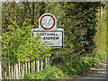 TM3786 : Ilketshall St Andrew Village Name sign on Top Road by Adrian Cable