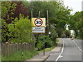 TL9828 : Great Horkesley Village Name sign by Adrian Cable