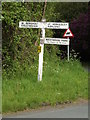 TL9629 : Roadsign on Nayland Road by Adrian Cable