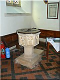 SP2304 : Font, Church of St Peter, Filkins by Brian Robert Marshall