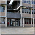 SS7597 : Gorsaf Bleidleisio/Polling Station notice, Neath Civic Centre by Jaggery
