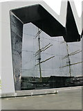 NS5565 : Glasgow Riverside Museum, with reflection of the Tall Ship by David Hawgood
