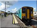 SN4119 : A Pembroke Dock train stands in Carmarthen Station by John Lucas