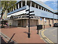 SS7597 : Black signpost, Water Street, Neath by Jaggery