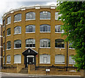 TQ2883 : Former piano factory, Oval Road, Camden Town by Julian Osley