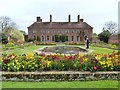ST3918 : The lily pond and Strode House, Barrington Court by Derek Voller
