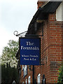 TM1948 : The Fountain Public House sign by Adrian Cable