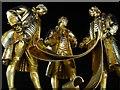 SP0686 : Statues of Matthew Boulton, James Watt and William Murdoch at Night by Philip Halling