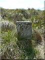 SD9735 : Boundary stone on Round Hill, Wadsworth / Haworth by Humphrey Bolton