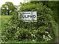 TM2049 : Culpho Village Name sign On Grundisburgh Road by Adrian Cable