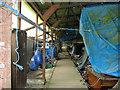 TG3724 : Boardwalk inside Europe's largest boat shed by Evelyn Simak