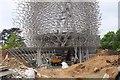 TQ1877 : The Hive under construction, Kew Gardens by Jim Barton