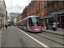 SP0786 : Midland Metro tram driver training in Corporation Street, Birmingham by Robin Stott