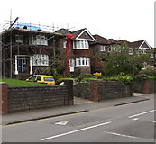 ST3090 : Pillmawr Road house under scaffolding, Malpas, Newport by Jaggery