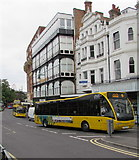 SZ0891 : Yellow buses in Bournemouth town centre by Jaggery