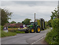 SU4916 : John Deere tractor with Claas mowing equipment by Peter Facey