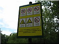 SP0394 : Hazards are here-Red House Park, Great Barr, Sandwell by Martin Richard Phelan