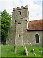 SP6408 : The tower of SS Peter and Paul, Worminghall by John S Turner