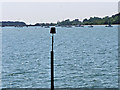 SZ0289 : Red Channel Marker in Poole Harbour by David Dixon