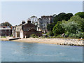 SZ0387 : National Trust Shop and Reception Buildings at Brownsea Island by David Dixon