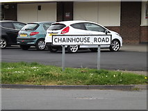 TM0954 : Chainhouse Road sign by Adrian Cable