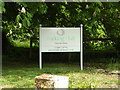 TM0753 : Barking Hall Nursing Home sign by Adrian Cable
