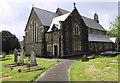 SN7810 : Entrance path to St Cynog's Church, Ystradgynlais by Jaggery