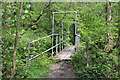 SO1700 : Footbridge over River Sirhowy below Argoed by M J Roscoe