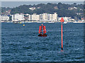SZ0189 : Channel Markers in Poole Harbour by David Dixon