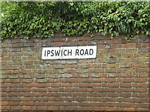 TM0954 : Ipswich Road sign by Adrian Cable