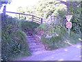 SN0403 : Carew Bridge - footpaths by welshbabe