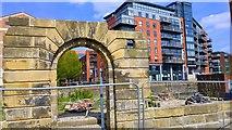 SE3033 : Arch Doorway, Water Lane, Leeds by Mark Stevenson