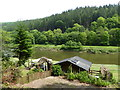 SO5308 : Fishing bothy on the River Wye by Jeremy Bolwell