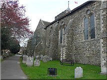 TQ9220 : The southern side of St Mary's church by John Baker