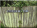 TM0756 : Badley Walk sign by Adrian Cable