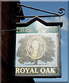 NY3356 : Sign for the Royal Oak, Moorhouse by JThomas