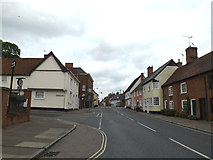 TM0855 : B1113 High Street, Needham Market by Adrian Cable