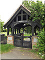 TM0854 : War Memorial & Lych Gate at St.John the Baptist Cemetery by Adrian Cable