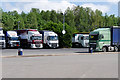 SJ8930 : Lorry Park at Stafford (South) Services by David Dixon