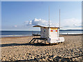 SZ0890 : RNLI Lifeguards Watch House, Durley Chine Beach by David Dixon