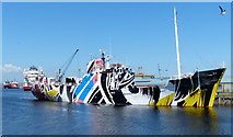 NT2776 : Dazzle Ship at Leith by Mat Fascione