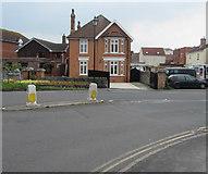 ST3049 : Victoria Street pedestrian refuge, Burnham-on-Sea by Jaggery