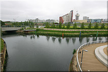 TQ3784 : Confluence of the River Lea (or Lee) and Waterworks River by David Kemp