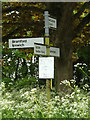 TM0949 : Roadsign on Nettlestead Road by Adrian Cable
