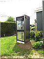 TM1051 : Telephone Box at Baylham Village Hall by Adrian Cable