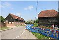 SU6559 : Roadworks in Minchens Lane by Des Blenkinsopp
