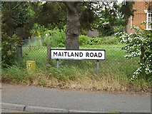 TM0954 : Maitland Road sign by Adrian Cable