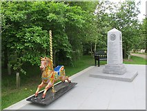 SK1814 : National Memorial Arboretum: Showmen's Guild by Stephen Craven